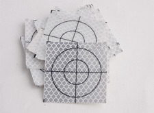 Reflector Sheet 60 x 60mm Reflective Tape Target 100pcs