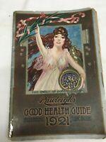 Vintage Rawleighs Good Health Guide Magazine circa 1921 Apothecary guide book