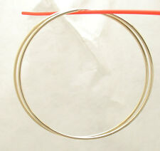 "2mm X 80mm 3 1/4"" Large Plain Shiny Endless Hoop Earrings Real 14k Yellow Gold"
