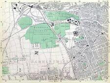 LONDON, 1900 - SHEPHERDS BUSH, KENSAL GREEN, N. KENSINGTON, Original Antique Map