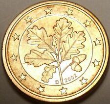 Pièces euro d'Allemagne pour 1 Euro année 2002