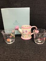 PartyLite Easter Gift Set Tea Light Candle Holders Spring Flowers Watering Can