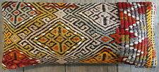 (30*70cm, 12*27inch) Vintage handmade Kilim Lumbar cover Tribal thick weave