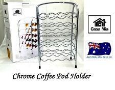 CASA MIA CHROME NESPRESSO COFFEE CAPSULES POD HOLDER RACK HOLDS 40 PODS
