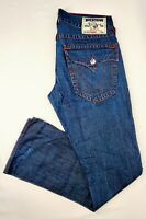 True Religion Denim Jeans Flap Pocket Straight Leg Mens 33 x 33 Made In USA