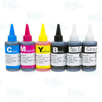 6 pack Refill Ink Bottle Set for Canon PGI-270 CLI-271 PIXMA MG7720 Grey CISS