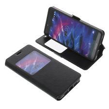 Tasche für MEDION Life X5004 Book-Style Windows Handy Schutz Hülle Buch Schwarz