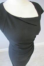 L K BENNETT DAVINA SHIFT DRESS - SIZE 10 - FULLY LINED - BLACK