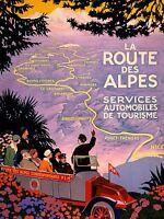 ART PRINT POSTER ADVERT TRAVEL TOURISM ALPS PARIS NICE MOUNTAIN ROUTE NOFL0514