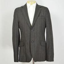 Menta Scotch & Soda Vintage-Looking Tweed a Righe Grigio Giacca Sport Taglie 40L