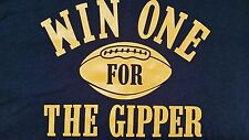 NOTRE DAME FIGHTING IRISH WIN ONE FOR THE GIPPER T SHIRT XL