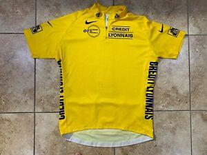 Nike Credit Lyonnais XL 2001 Yellow Cycling Jersey Extra Large Le Tour De France