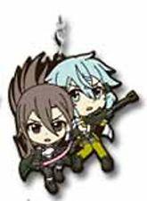 Sword Art Online Kirito, Sinon Rubber Phone Strap Ichiban Kuji 2 G Prize NEW