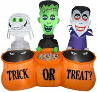 5' FT Long Halloween Monster Trick or treaters Airblown Inflatable Yard Decor