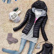 New Womens Ladies Quilted Padded Bubble Hooded Light Warm Puffer Coat Jacket