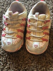 Baby Girl Sketchers White Pink Lace Size6