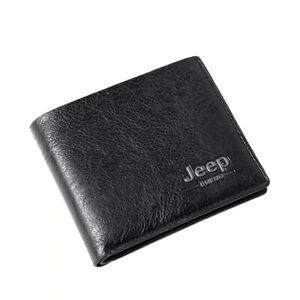 Top Men Wallets Mens Jeep Wallet Slim Small Purse New Design Black color