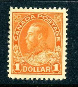 Canada 122b F/VF MNH $1 deep orange wet printing Admiral CV $1000