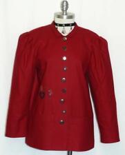 "WOOL RED JACKET Women GERMAN Heart LIGHT WEIGHT Career Coat B40"" /38/8 10 M"