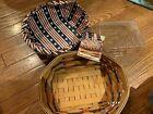 Longaberger All American Blue Ribbon Bread Basket 1999, Liner, Protector