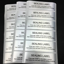 Silver Warranty and Safety Sealing Label Security VOID Stickers 60*20mm ~100pcs