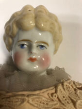 Antique Blonde China Shoulder Head Doll Cloth Body 13""