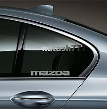 2 - MAZDA 3 5 RX7 RX8 Mazdaspeed Racing Decal sticker emblem logo SILVER