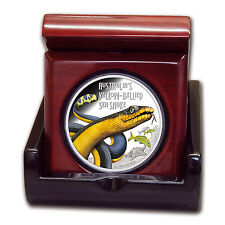 2013 1 oz Proof Silver Deadly and Dangerous Coin - Yellow Bellied Snake