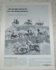 1965 ad page - Harley-Davidson motorcycles -hit the high road to fun- PRINT AD