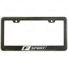F Sport lexus License Plate Frame Carbon Fiber Look Style Glossy Plastic