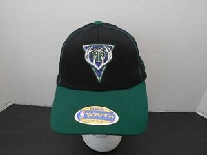 NBA Milwaukee Bucks Youth Reebok One Fit 4-7 Years Baseball Cap Black Hat New