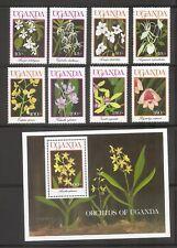 Uganda SC # 747-755 Flowers .- Orchids Of Uganda - Mint Never Hinged