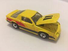 Vintage Matchbox Yellow Camaro Iroc Z - 28 Macau 1985 1:64 Diecast Mint