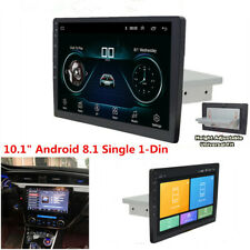"10.1"" Android 8.1 1-Din Car Stereo Radio Player GPS WiFi BT Mirror Link DAB OBD"