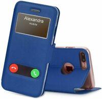 Pour tous les Samsung Note - Étui refermable avec clapet rabattable double fenêt