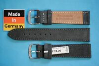 Velour Uhrband für Nomos 18 + 20mm dunkelgrau weich Made in Germany
