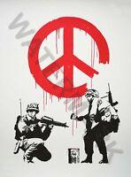 Banksy Cnd Soldiers Graffiti Street Art Large Poster Art Print Lf3729
