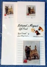 New Cairn Terrier Dog List Pad Note Pad & Magnet Set Gift Pack by Ruth Maystead