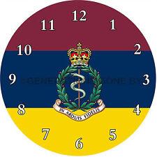 ROYAL ARMY MEDICAL CORPS GLASS WALL CLOCK