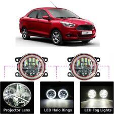 LED Fog Light Kit Angel Eye Rings DRL Daytime Running Lamp Fit For Ford Figo