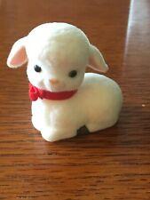 1990 Hallmark Gentle Pals Flocked Lamb Easter Merry Miniature Figurine