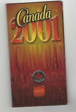 **2001P**Canada Day, Coloured Maple Leaf** Canadian, 25 Cent**