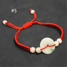 Unisex Jade Beads Red String Rope Bracelet Good Luck Lucky Success Moral Amulet #5