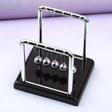 Newton's Cradle Fun Steel Balance Ball Physics Science Desk Toy Accessory Gift~