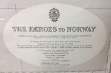 ADMIRALTY  SEA  CHART. THE FAROES to NORWAY. No2182D. Denmark, Norway. 1918 - 27