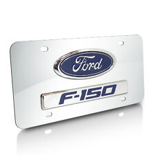 Ford F-150 3D Logo and Nameplate Chrome Steel License Plate