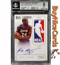 12-13 Kobe Bryant Panini National Treasures NBA Logoman Patch Auto /5 BGS 9 / 10