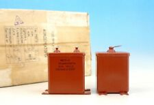 2x Matched Mbgo-2 30uF 160V Ussr PiO Paper In Oil Pair Capacitors 30мкФ 160В