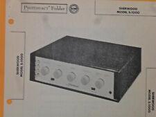 SHERWOOD S-1000 - SCHEMATIC & PARTS ID - SAMS PHOTOFACT #345-14 - AMP 1957