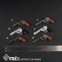 ASTOYS 1:6 Smith & Wesson Revolver Weapon Model AS041 Pistol Toy F 12'' Figure